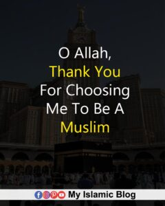 O Allah, Thank You For Choosing Me To Be A Muslim ❤️